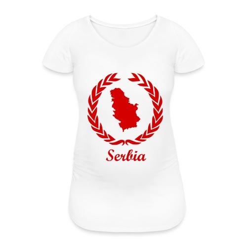 Connect ExYu Serbia Red Editon - Frauen Schwangerschafts-T-Shirt