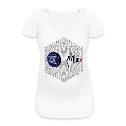 disen o dos canales cubo binario logos delante - Women's Pregnancy T-Shirt