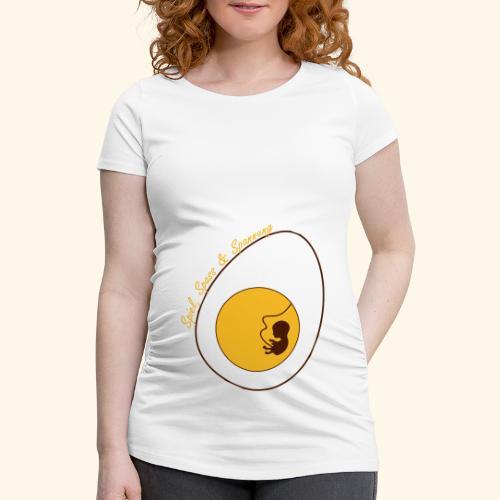 Überraschnungs Ei 2farbig - Frauen Schwangerschafts-T-Shirt