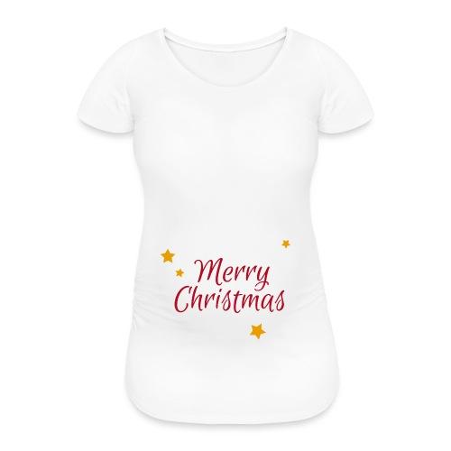 Merry Christmas, Frohe Weihnachten - Frauen Schwangerschafts-T-Shirt