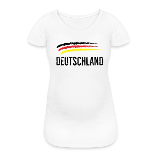 Deutschland, Flag of Germany - Women's Pregnancy T-Shirt