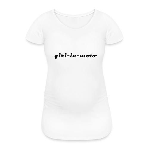 GIRI IN MOTO LIFESTYLE RACING NERO - Maglietta gravidanza da donna