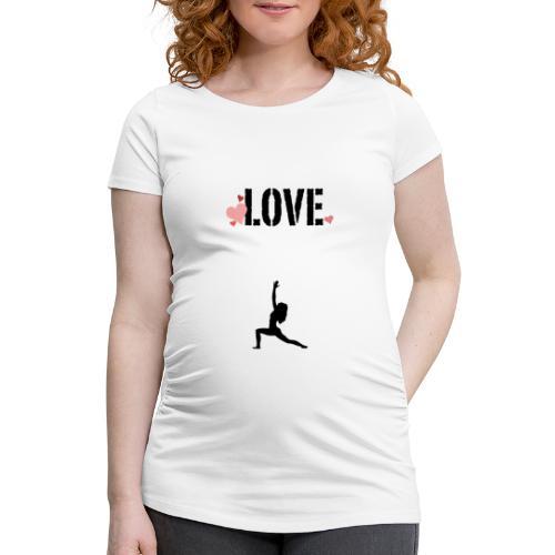 j'aime le yoga . - T-shirt de grossesse Femme