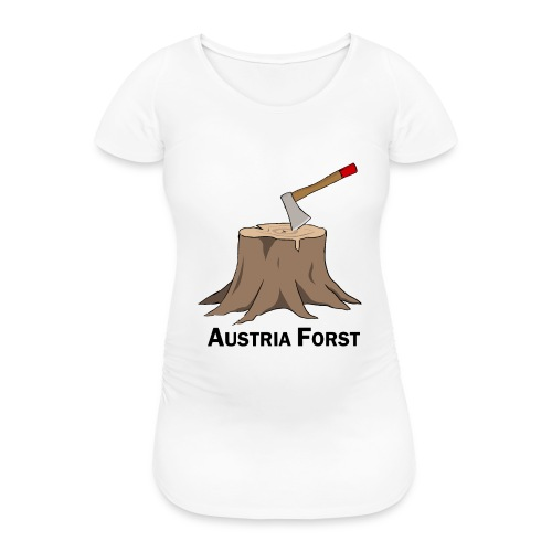 Baumstumpf - Frauen Schwangerschafts-T-Shirt