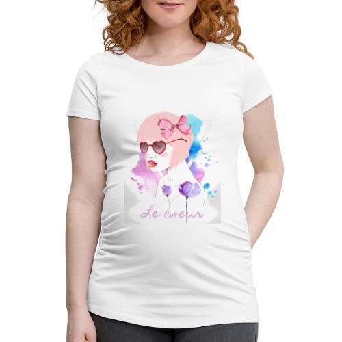 Le coeur - T-shirt de grossesse Femme