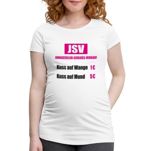Junggesellen Schlussverkauf JGA - Frauen Schwangerschafts-T-Shirt