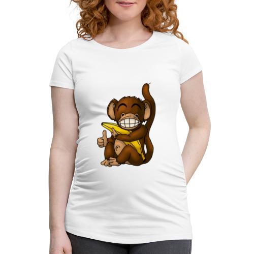 Super Fröhlicher Affe - Frauen Schwangerschafts-T-Shirt