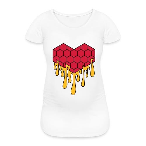 Honey heart cuore miele radeo - Maglietta gravidanza da donna