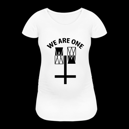 WE ARE ONE x CROSS - Vrouwen zwangerschap-T-shirt