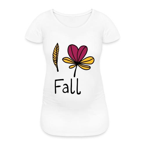 Fall in love - Frauen Schwangerschafts-T-Shirt