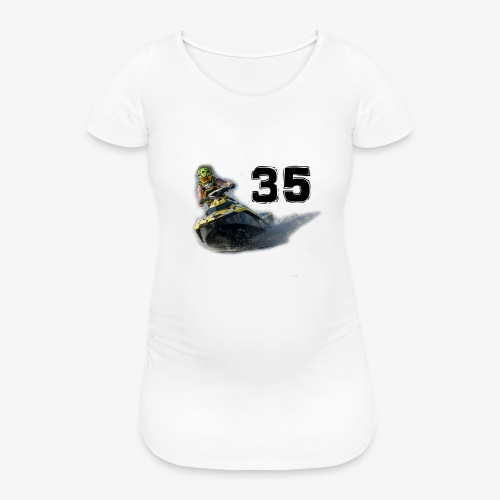 jetski35 - Naisten äitiys-t-paita