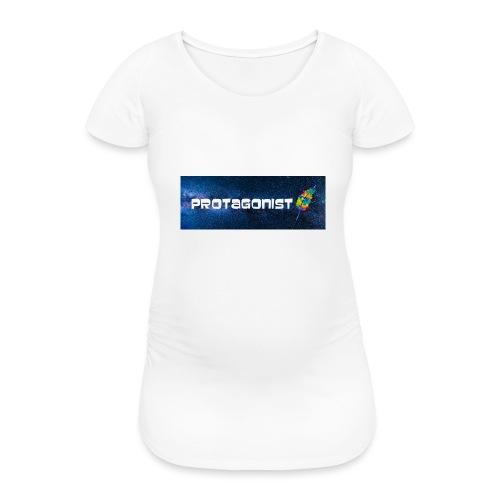 Protagonist by Schreiben-im-Flow.de - Frauen Schwangerschafts-T-Shirt
