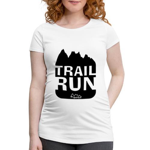Trail Run - Frauen Schwangerschafts-T-Shirt
