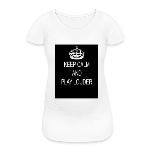 keep calm play loud - T-shirt de grossesse Femme