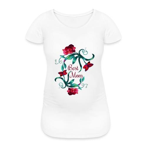 Best Mom - Frauen Schwangerschafts-T-Shirt