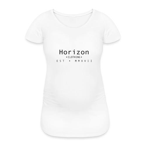Black Horizon Logo - Women's Pregnancy T-Shirt