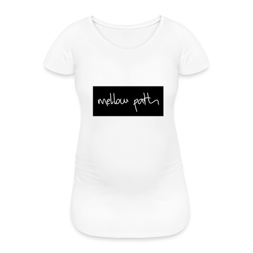 MELLOW PATH LOGO - Women's Pregnancy T-Shirt