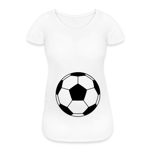 Fussball schwanger Babybauch Geschenk Deutschland - Frauen Schwangerschafts-T-Shirt