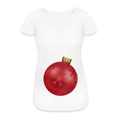 Weihnachtskugel schwanger Baby Shirt Geschenk - Frauen Schwangerschafts-T-Shirt