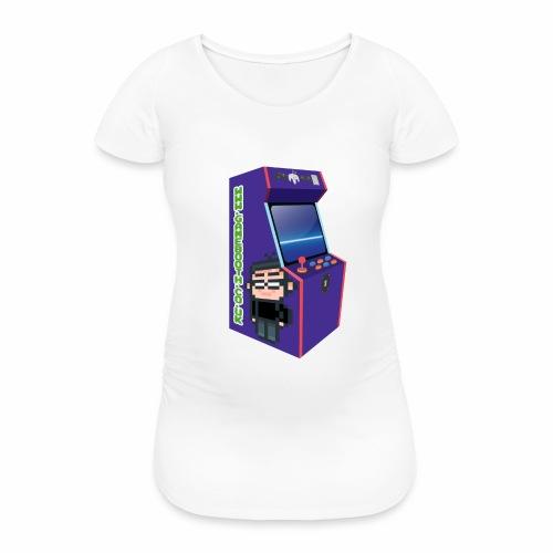 Game Booth Arcade Logo - Women's Pregnancy T-Shirt