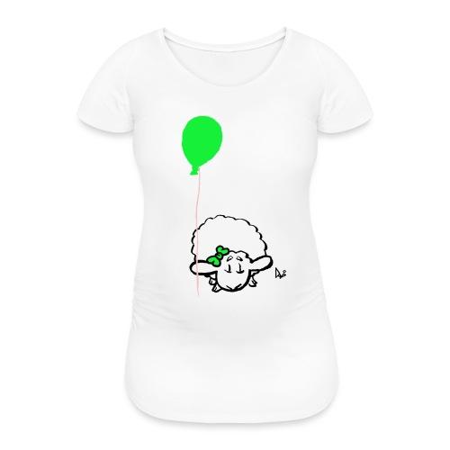 Agnellino con palloncino (verde) - Maglietta gravidanza da donna