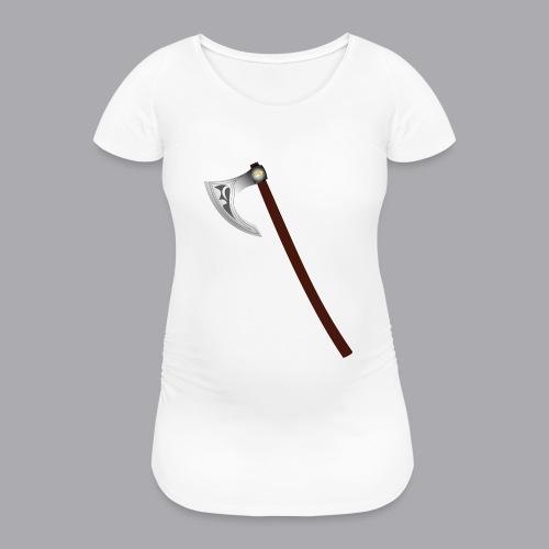 Wikinger Beil - Frauen Schwangerschafts-T-Shirt