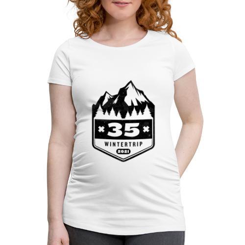 35 ✕ WINTERTRIP ✕ 2021 • BLACK - Vrouwen zwangerschap-T-shirt