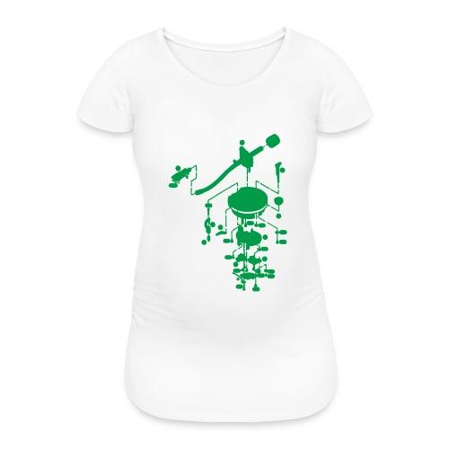 tonearm05 - Vrouwen zwangerschap-T-shirt