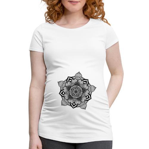 mandala fiore di loto - Maglietta gravidanza da donna