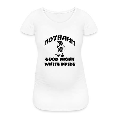 brust_pfad_klein - Frauen Schwangerschafts-T-Shirt