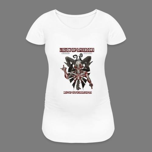 legion_line_up_final_ - Vrouwen zwangerschap-T-shirt