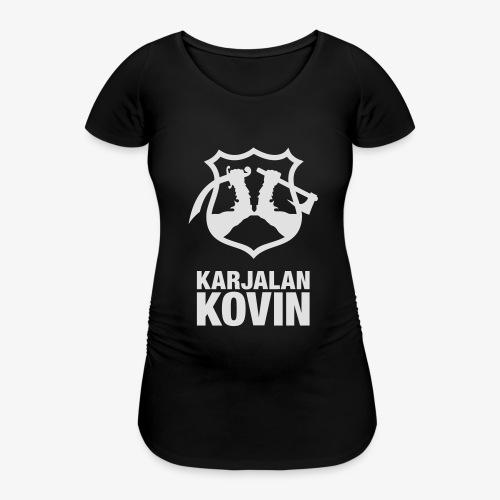 karjalan kovin logo pysty cmyk - Naisten äitiys-t-paita