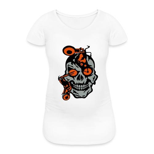 tete mort moto motrocycle oeil skull - T-shirt de grossesse Femme