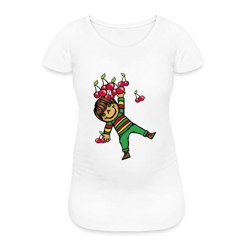 08 kinder kapuzenpullover hinten - Frauen Schwangerschafts-T-Shirt