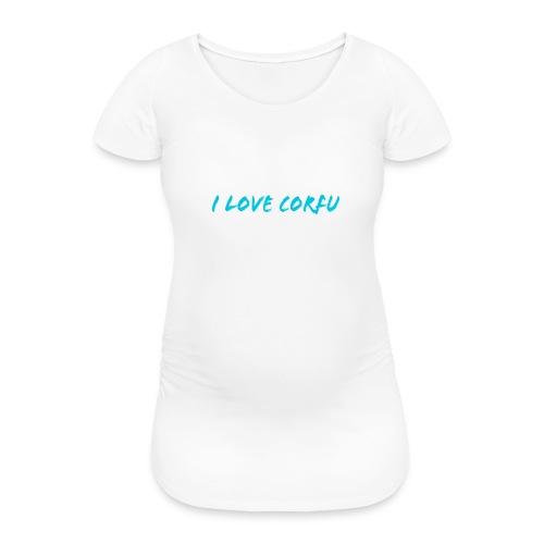 I Love Corfu Griechenland - Frauen Schwangerschafts-T-Shirt