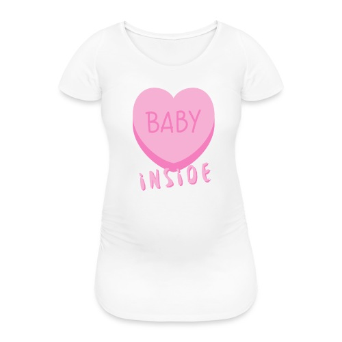 Baby Inside Pink Heart - Frauen Schwangerschafts-T-Shirt