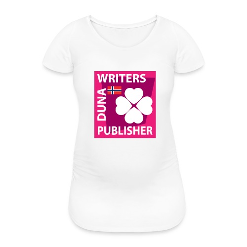Duna Writers Publisher Pink - T-skjorte for gravide kvinner