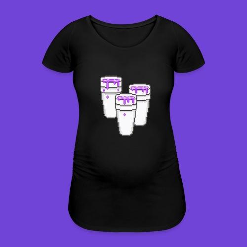 Purple - Maglietta gravidanza da donna