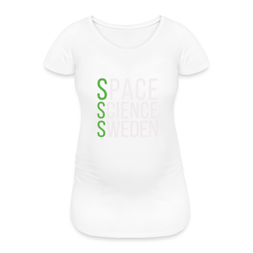 Space Science Sweden - vit - Gravid-T-shirt dam