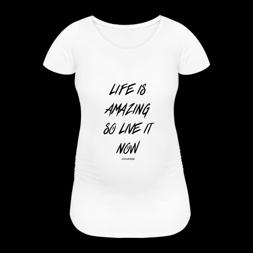 Life is amazing Samsung Case - Women's Pregnancy T-Shirt