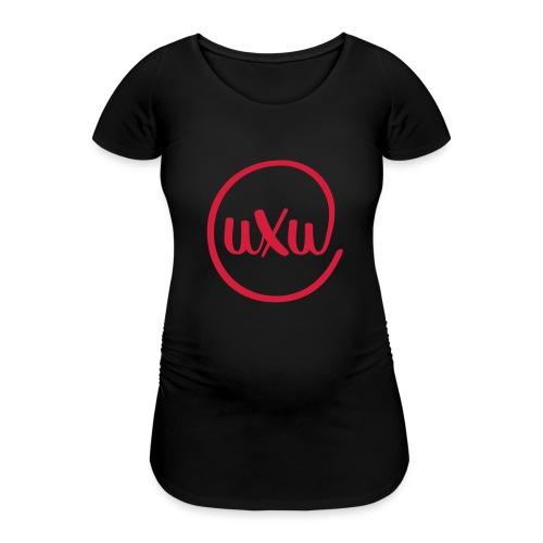 UXU logo round - Women's Pregnancy T-Shirt