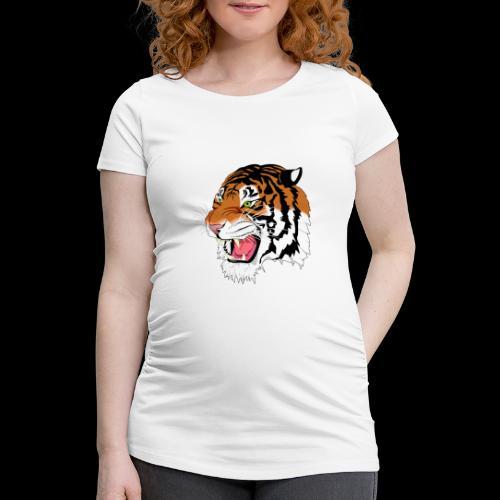 Sumatra Tiger - Frauen Schwangerschafts-T-Shirt