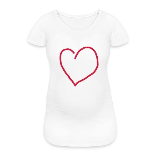 Herz_Red1 - Frauen Schwangerschafts-T-Shirt