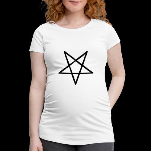 Pentagram2 png - Frauen Schwangerschafts-T-Shirt