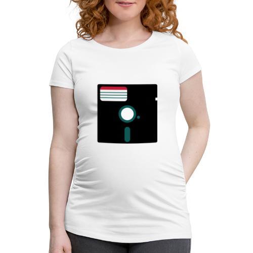 5 1/4 inch floppy disk - Naisten äitiys-t-paita