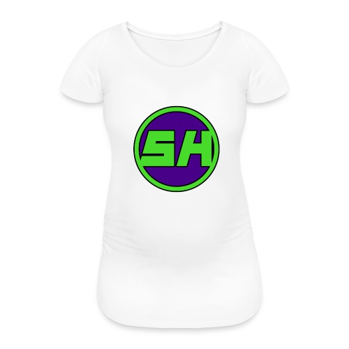 SkyHyperion Classic Colours - White - Women's Pregnancy T-Shirt
