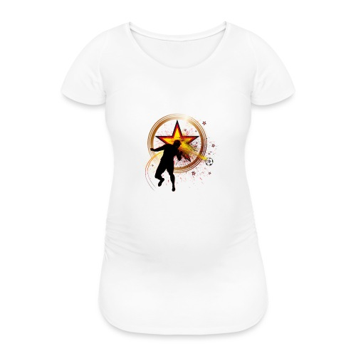 Kopfball Star Deutschland B - Frauen Schwangerschafts-T-Shirt