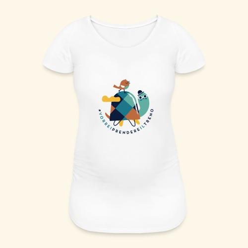 Tartaruga e uccellino - Maglietta gravidanza da donna