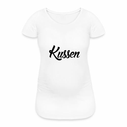 Kussen.website kussensloop zwart - Vrouwen zwangerschap-T-shirt