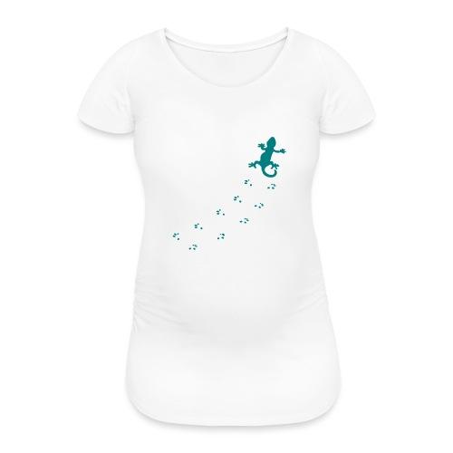 Messy Lizard Paws - Women's Pregnancy T-Shirt